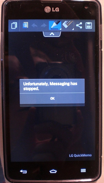 Unfortunately Messaging Has Stopped