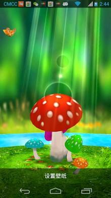 Mushrooms 3D Live Wallpaper-1