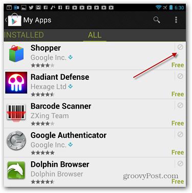 menghapus aplikasi android google play store