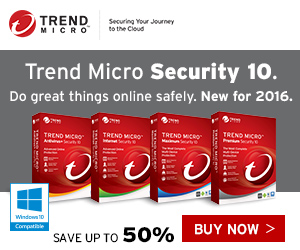 Trend Micro 2016 Security up to 60% OFF!