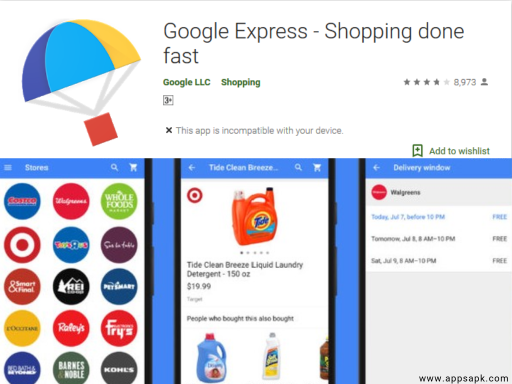 Google Express Android Shopping App