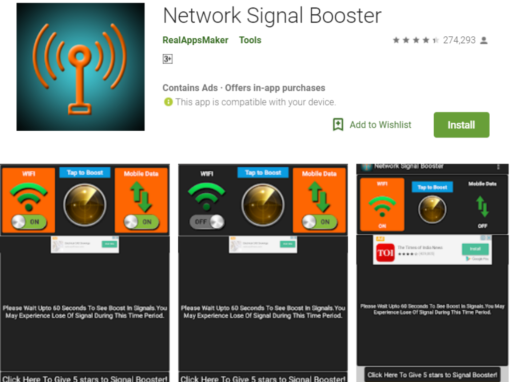 Network Signal Internet Booster App for Android