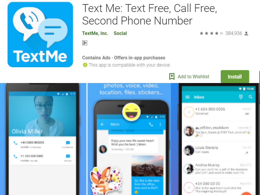 Text Me Android App